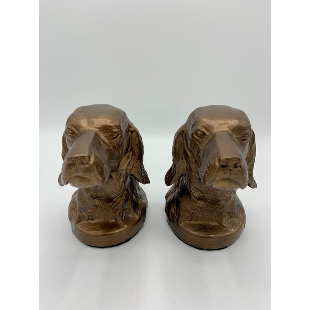 Vintage Bronze Gilt Sporting Dog Bookends - a Pair For Sale - Image 10 of 10