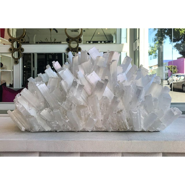 Contemporary Kathryn McCoy Selenite Crystal Sculpture For Sale - Image 3 of 8