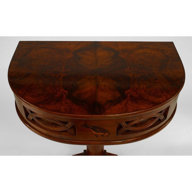 1930s 1930s Italian Art Deco Rosewood Console Table For Sale - Image 5 of 7