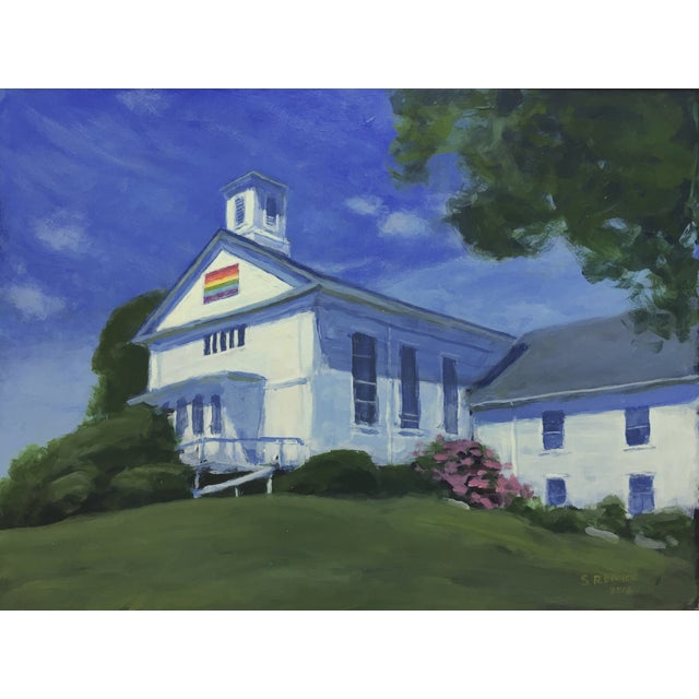 Original Painting of a New England Church - Image 5 of 5