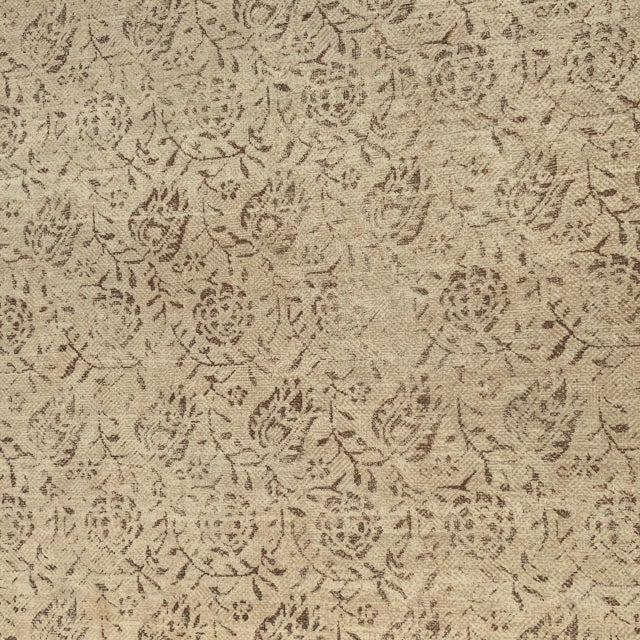 """One of Rose Tarlow For Melrose House's most popular patterns, """"Calais"""" in """"Taupe/Natural"""" color-way printed on 100% hemp..."""