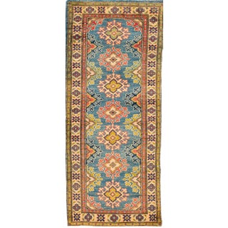 "Apadana - Transitional Beige and Teal Indian Tabriz-Style Runner, 2'3"" x 6'"