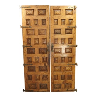 Circa 1800 Walnut and Pine Doors From Spain - A Pair For Sale