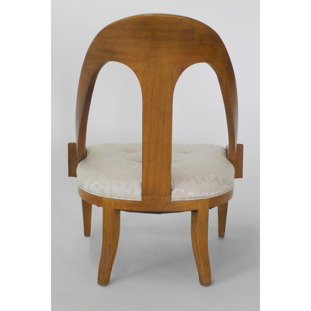 Neoclassical Style Spoon Back Slipper Chair For Sale - Image 5 of 6