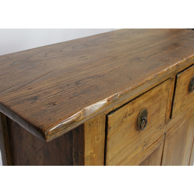 Natural Wood Hand Crafted Cabinet - Image 4 of 4