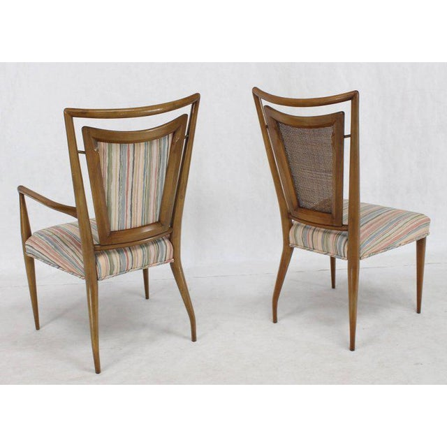 Set of Six Mid-Century Modern Walnut Dining Chairs by Widdicomb in Ponti Style For Sale - Image 10 of 10