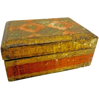 Small Italian Florentine Box With Gilt For Sale