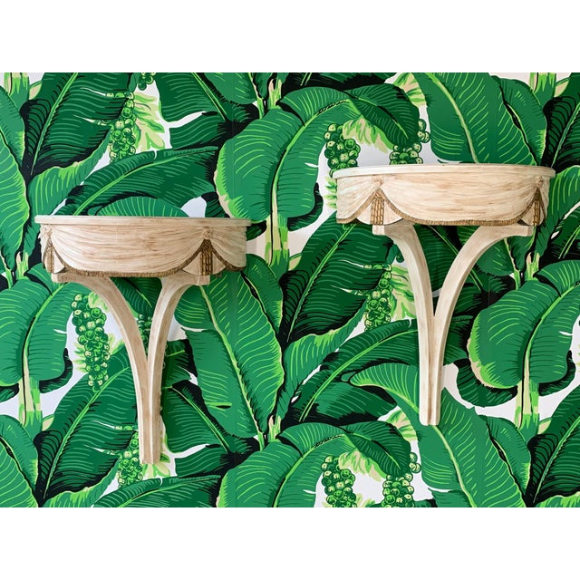 Pair of Wall Mounted Shelves Attributed to Dorothy Draper For Sale - Image 12 of 12