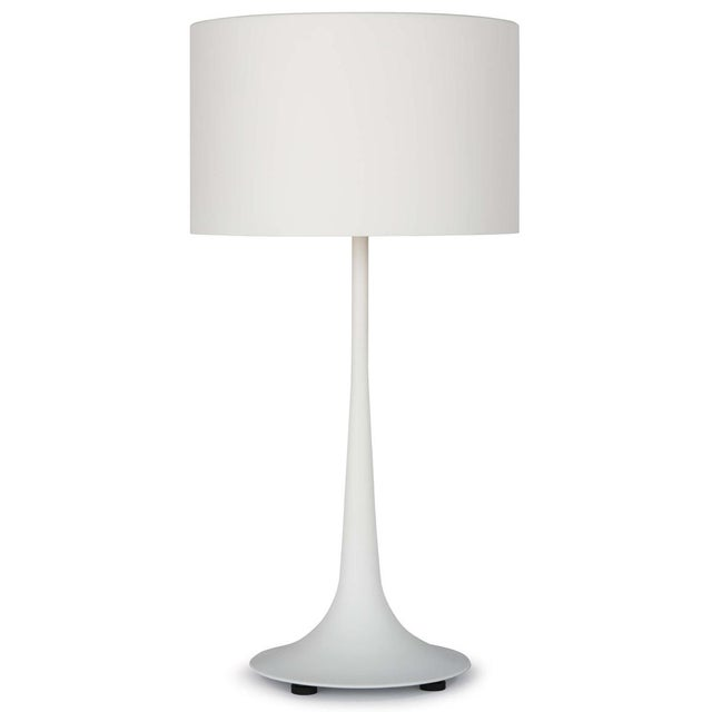 White Trilogy Table Lamp in White For Sale - Image 8 of 8