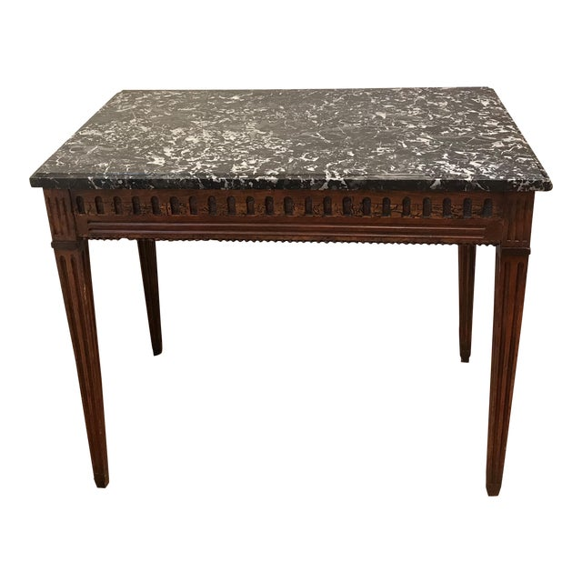 18th Century Fruit Wood Marble Top Console Table For Sale