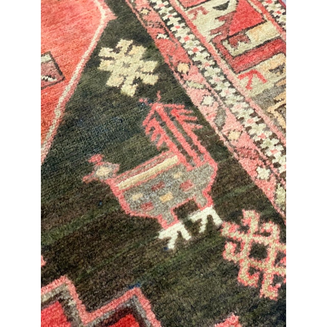 Textile 1950s Vintage Persian Runner Rug - 3′4″ × 9′ For Sale - Image 7 of 13