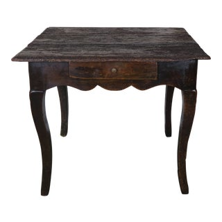 18th C. French Provincial Style Table W/ Drawer For Sale