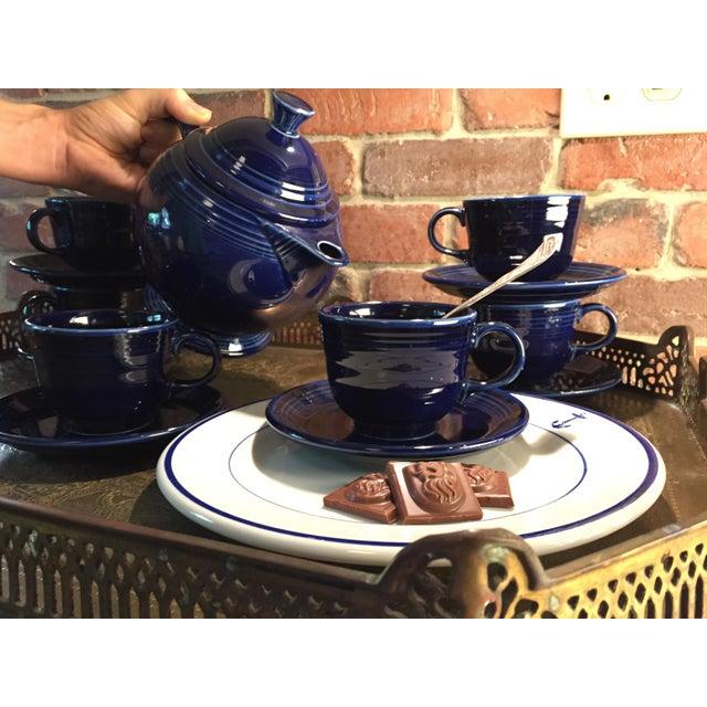 Ceramic 1992 Fiesta Navy Tea Set - 14 Pieces For Sale - Image 7 of 11