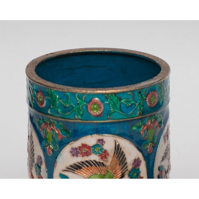 Turquoise Vintage Peking Brush Pot & Kaleidoscope For Sale - Image 8 of 11