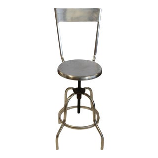 Vintage Industrial Swivel Adjustable Stool