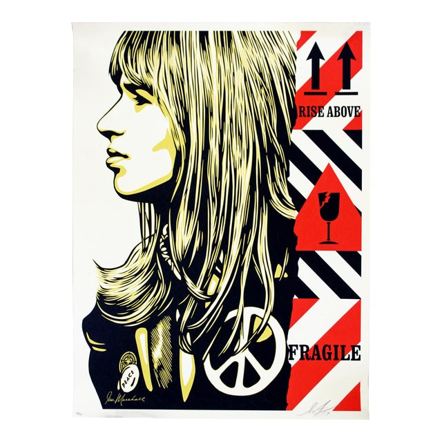 Shepard Fairey Signed Numbered Screenprint 156/450 Fragile Peace -Obey Giant For Sale