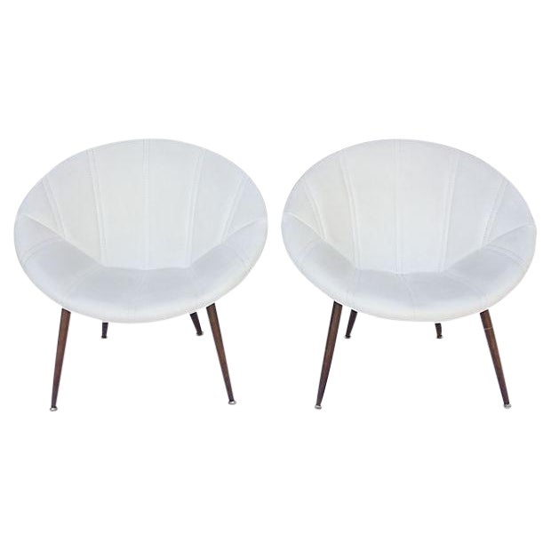 Douglas Eaton MCM Saucer Chairs - A Pair - Image 1 of 5