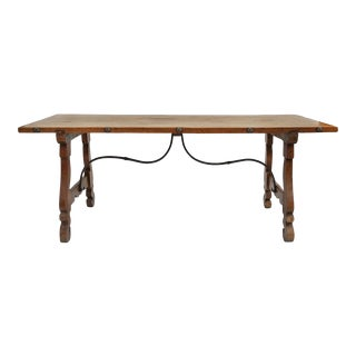 Spanish Walnut Dining Table For Sale