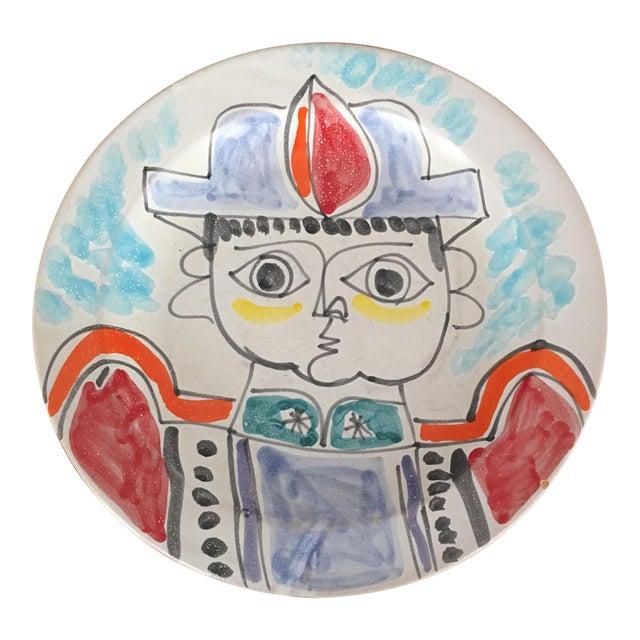 "DeSimone Mi- Century 10 "" Pottery Charger For Sale"