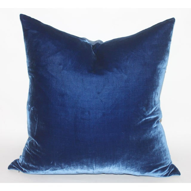 Royal Blue Velvet Pillow Chairish