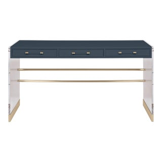 Casa Cosima Arden Desk with Taper Leg Base, Hale Navy For Sale