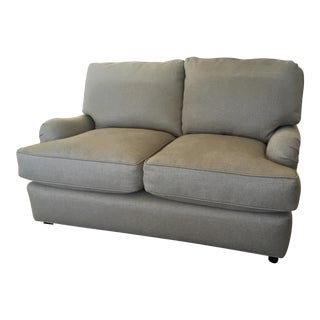 Traditional Style Tan Textile Upholstered Quatrine Loveseat