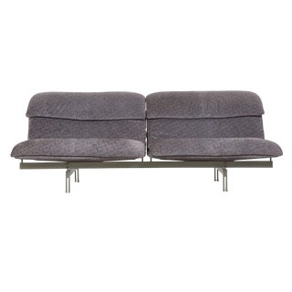 "Modern Italian ""Wave"" Two-Seater Sofa by Giovanni Offredi for Saporiti circa 1970s For Sale"