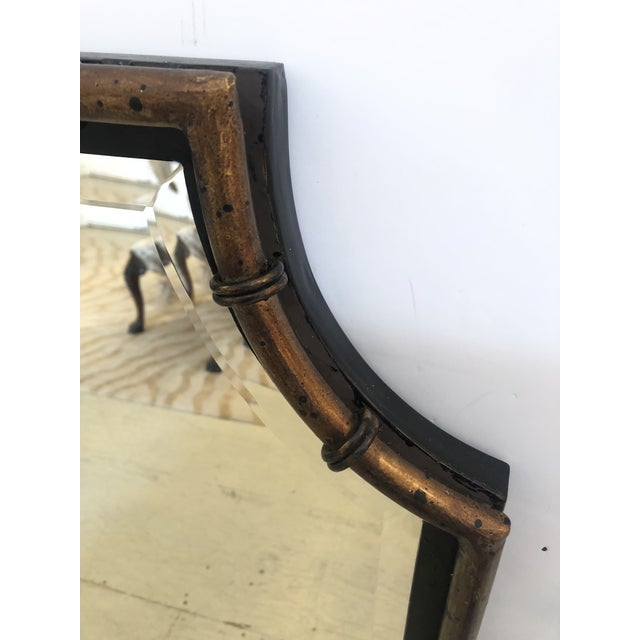 Asian Pagoda Style Bronze Patina and Black Mirror For Sale - Image 3 of 7