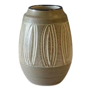 1970s Otagiri Japan Stoneware Sgraffito Vase For Sale
