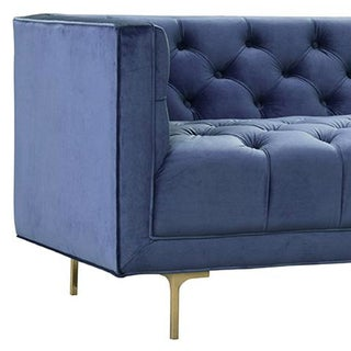 Midcentury Blue Tufted Sofa Preview