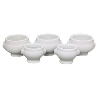French White Condiment / Pinch Bowls, Set of 5