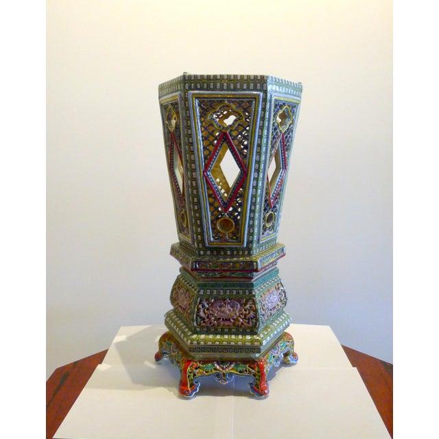 Chinese Porcelain Famille Verte Wedding Lantern For Sale - Image 12 of 12