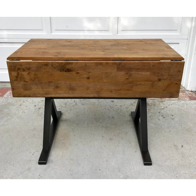 Drop Leaf X Base Table - Image 3 of 5