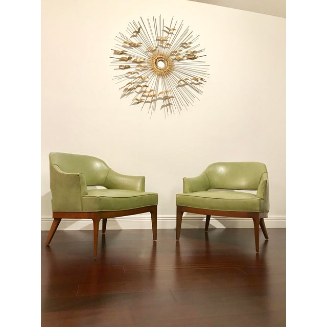 Mid-Century Modern Harvey Probber Mid Century Modern Low Club Chairs or Lounge Chairs - a Pair For Sale - Image 3 of 9