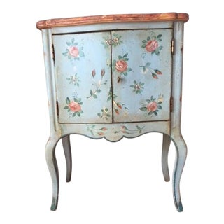 Vintage Comodino Rustic Floral Side Table