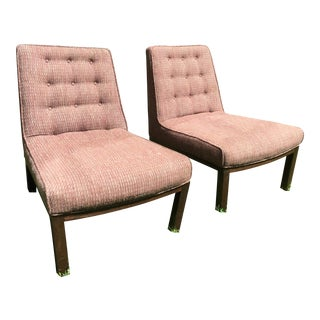 Mid Century Slipper Chairs by Edward Wormley for Dunbar Furniture - a Pair For Sale
