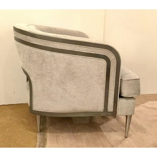 Caracole Caracole Modern Tranquil Gray Club Chair For Sale - Image 4 of 7