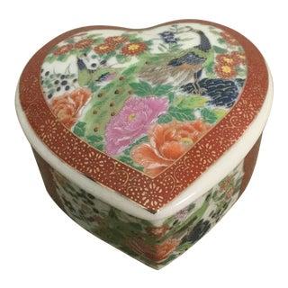Vintage Satsuma Heart Trinket For Sale