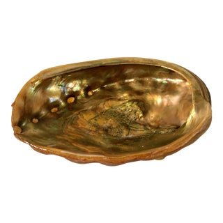 1969 Abalone Shell & Lucite Dish