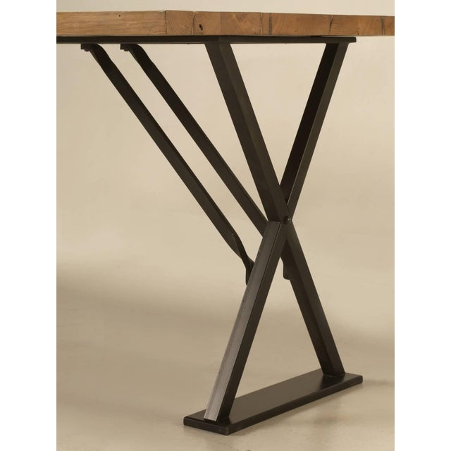 Industrial Inspired Kitchen Table From French White Oak and Steel For Sale In Chicago - Image 6 of 10
