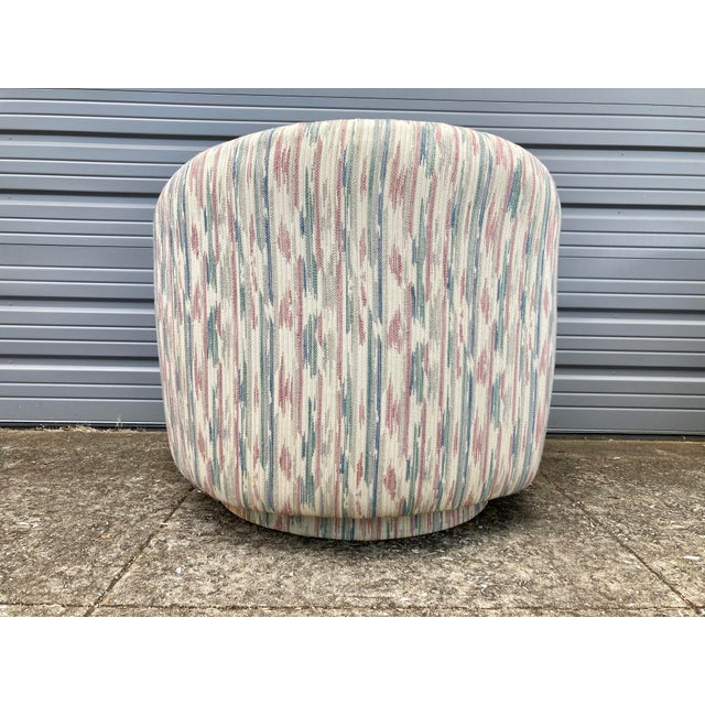 1980s Modern Milo Baughman Swivel Club Chairs - a Pair For Sale In Birmingham - Image 6 of 9