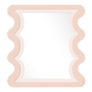 Fleur Home x Chairish Carnival Mystic Rectangle Mirror in Pink Ground, 24x36 For Sale