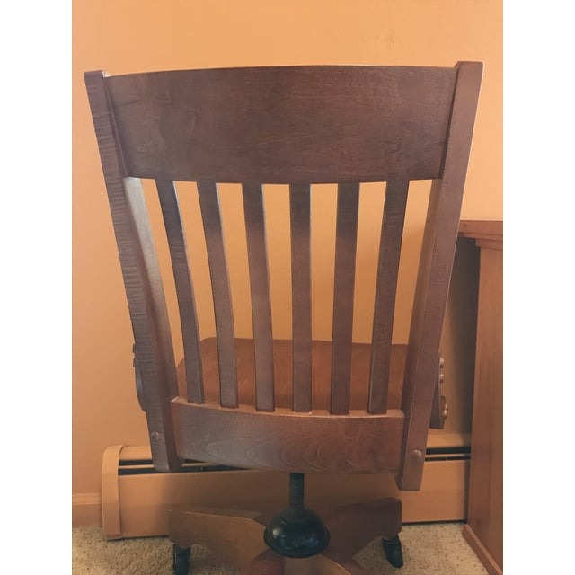 Pottery Barn Wooden Desk Chair - Image 6 of 8