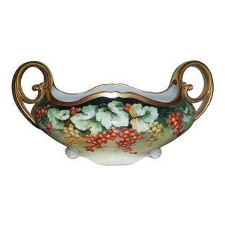 Antique P. H. Leonard Porcelain Centerpiece Bowl Vienna Austria
