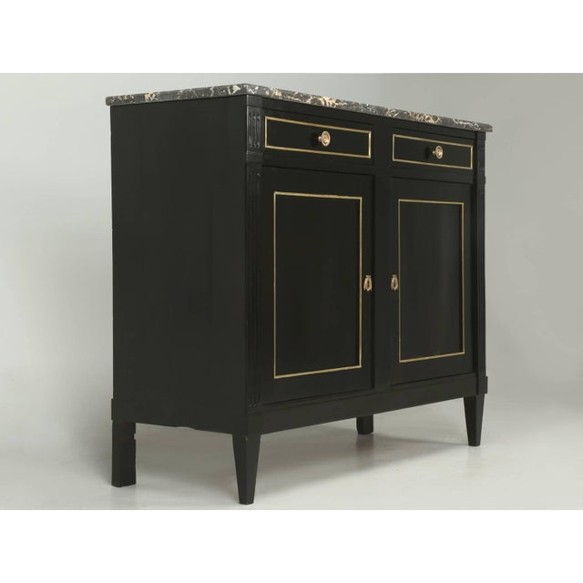 Antique French Louis XVI Style Buffet in an Ebonized Finish For Sale - Image 10 of 10