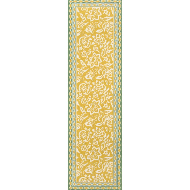 2010s Madcap Cottage Under a Loggia Rokeby Road Yellow Indoor/Outdoor Area Rug 5' X 8' For Sale - Image 5 of 7