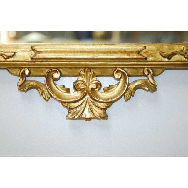 19th Century Italian Rococo Style Giltwood Mirror For Sale - Image 5 of 9