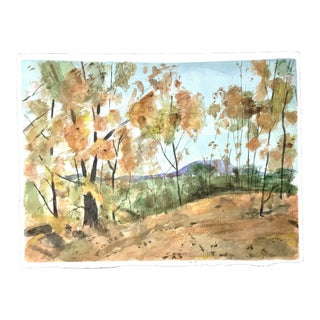Fall Foliage Watercolor Painting For Sale