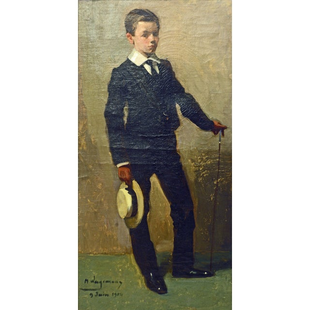 To the Manor Born' Full Length Portrait by Maurice Wagemans, Belgian 1877-1927 For Sale - Image 10 of 12