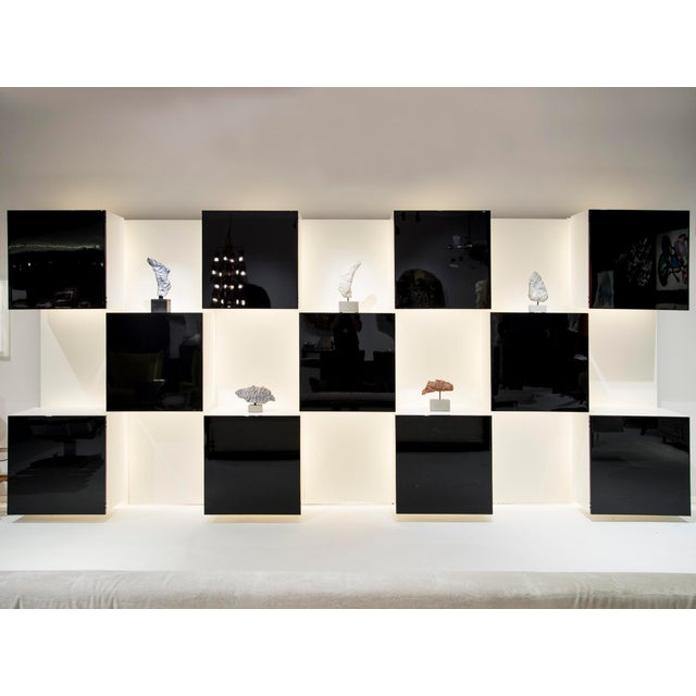 Important Black and White Bookcase, by Acerbis Int, Circa 1970 For Sale - Image 11 of 11